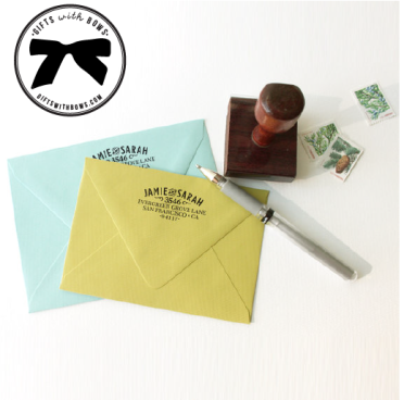 Chatty Press :: Custom Return Address Stamp :: $27 :: as featured on Gifts with Bows #giftswithbows #GWB