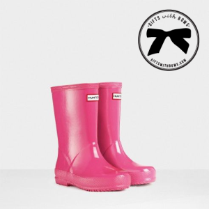Hunter :: Kids First Gloss Rain Boots :: $50 :: as featured on Gifts with Bows #giftswithbows #GWB
