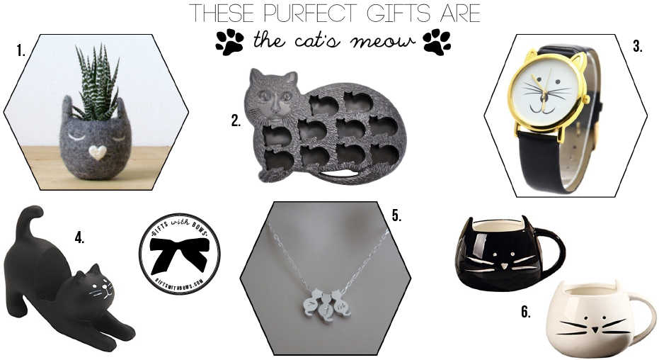 gift guide the cat lover gifts with bows