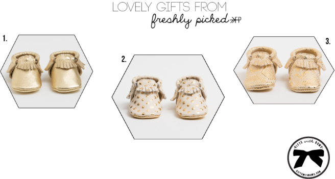 Freshley Picked :: Baby Moccasins :: as featured on Gifts with Bows #giftswithbows #GWB
