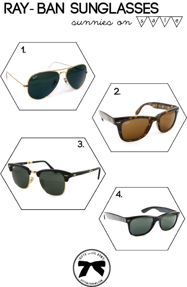 Ray-Ban :: Sunnies on Sale :: as featured on Gifts with Bows #giftswithbows #GWB