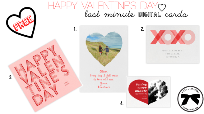 Valentine's Day :: Last Minute Digital Cards :: as featured on Gifts with Bows #giftswithbows #GWB