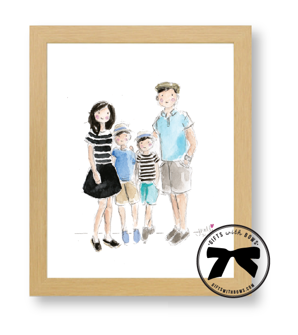 Sophie & Lili :: Watercolor Portaits :: as featured on Gifts with Bows #giftswithbows #GWB