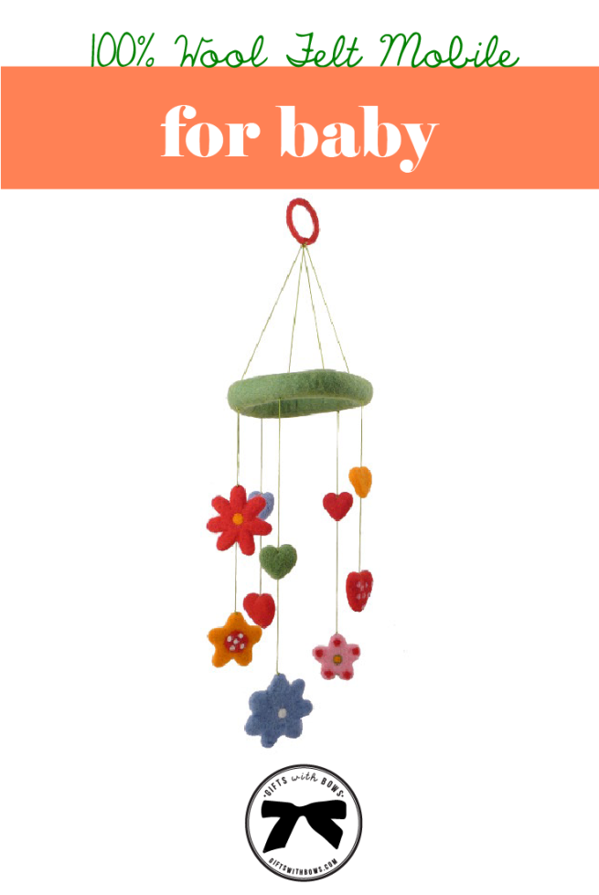 My Sweet Muffin :: Wool Baby Mobile :: $42 :: as featured on Gifts with Bows #giftswithbows #GWB