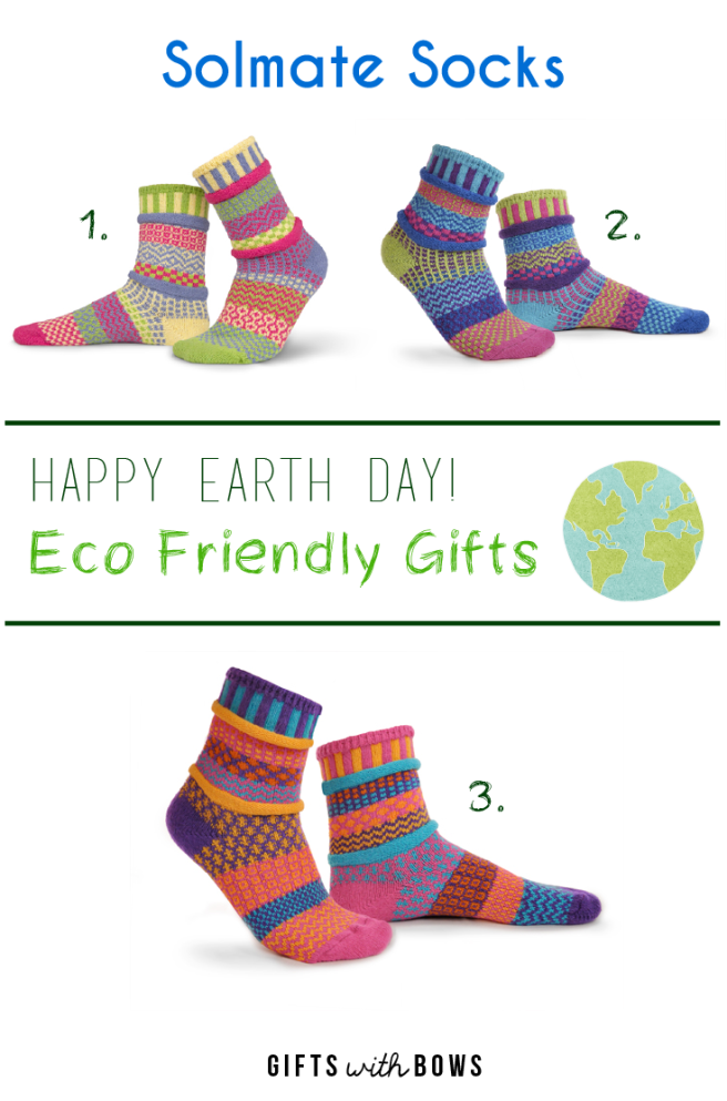 Happy Earth Day :: Solmate Socks :: ~$20/pair :: as featured on Gifts with Bows #giftswithbows #GWB