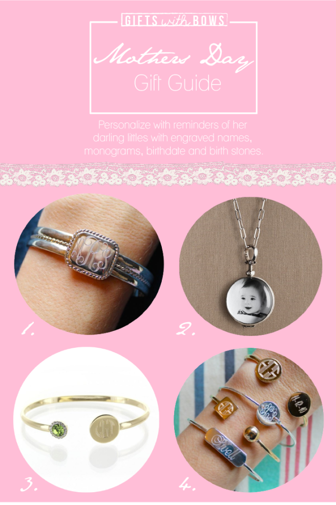 Mothers Day :: Gift Guide :: Personalized Jewlery ::  as featured on Gifts with Bows #giftswithbows #GWB
