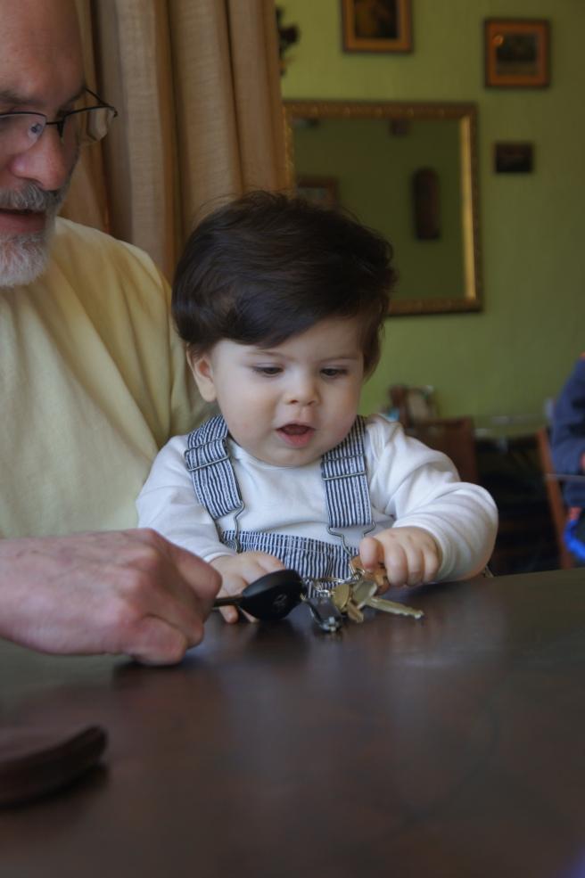 Ari with Grandpa at Alto Cinco