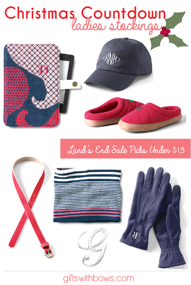 Christmas Countdown :: Ladies Stockings :: Land's End Picks Under $13 :: as featured on Gifts with Bows #giftswithbows #GWBChristmasCountdown #GWB #landsend