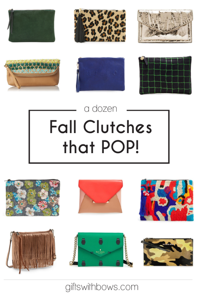 A Dozen Clutches for Fall :: as featured on Gifts with Bows #giftswithbows #GWB