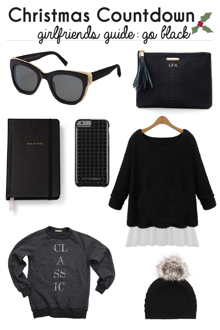 Christmas Countdown: 7 Girlfriend Gifts in Black   gifts with bows